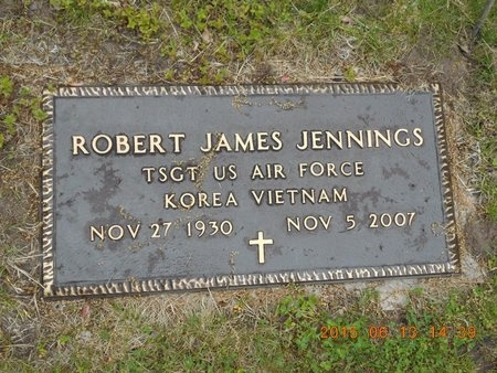 JENNINGS, ROBERT JAMES - Marquette County, Michigan | ROBERT JAMES JENNINGS - Michigan Gravestone Photos
