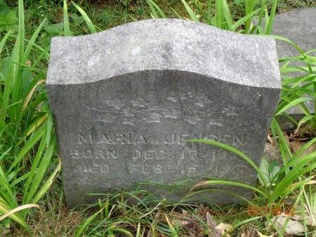 JENSEN, MARIA - Marquette County, Michigan | MARIA JENSEN - Michigan Gravestone Photos