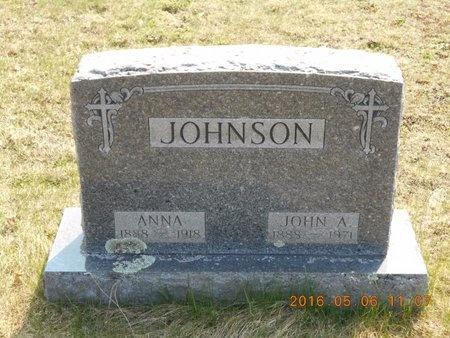 JOHNSON, JOHN A. - Marquette County, Michigan   JOHN A. JOHNSON - Michigan Gravestone Photos