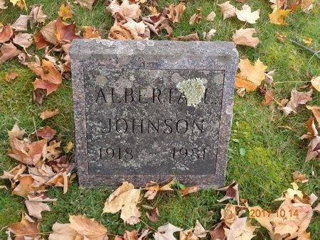 JOHNSON, ALBERTA L. - Marquette County, Michigan | ALBERTA L. JOHNSON - Michigan Gravestone Photos