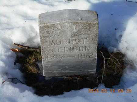 JOHNSON, AUGUST - Marquette County, Michigan | AUGUST JOHNSON - Michigan Gravestone Photos