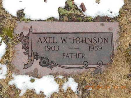 JOHNSON, AXEL W. - Marquette County, Michigan | AXEL W. JOHNSON - Michigan Gravestone Photos