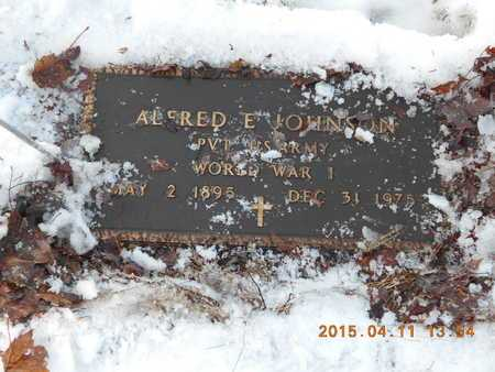 JOHNSON, ALFRED E. - Marquette County, Michigan | ALFRED E. JOHNSON - Michigan Gravestone Photos