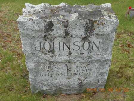JOHNSON, ANNE - Marquette County, Michigan | ANNE JOHNSON - Michigan Gravestone Photos
