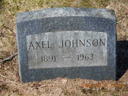 JOHNSON, AXEL - Marquette County, Michigan | AXEL JOHNSON - Michigan Gravestone Photos