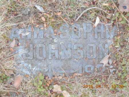 JOHNSON, ANNA SOPHIA - Marquette County, Michigan   ANNA SOPHIA JOHNSON - Michigan Gravestone Photos