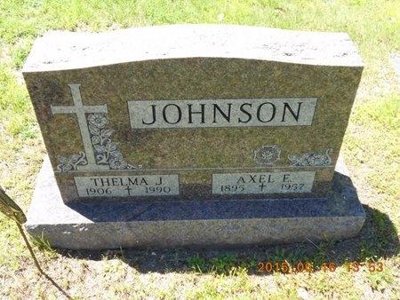 JOHNSON, AXEL E. - Marquette County, Michigan | AXEL E. JOHNSON - Michigan Gravestone Photos