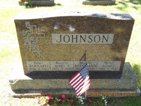 JOHNSON, AGNES - Marquette County, Michigan | AGNES JOHNSON - Michigan Gravestone Photos