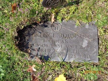 JOHNSON, CLARENCE - Marquette County, Michigan | CLARENCE JOHNSON - Michigan Gravestone Photos