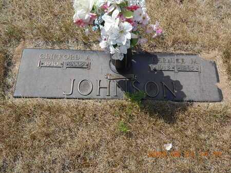 JOHNSON, CLIFFORD A. - Marquette County, Michigan | CLIFFORD A. JOHNSON - Michigan Gravestone Photos