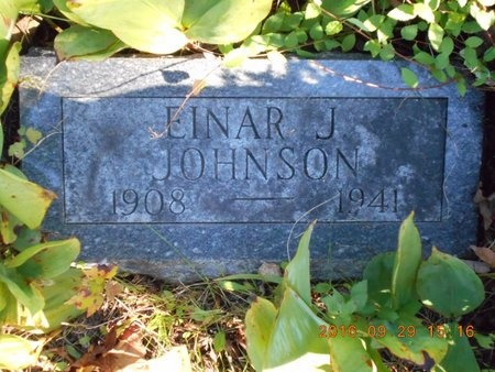 JOHNSON, EINAR J. - Marquette County, Michigan | EINAR J. JOHNSON - Michigan Gravestone Photos