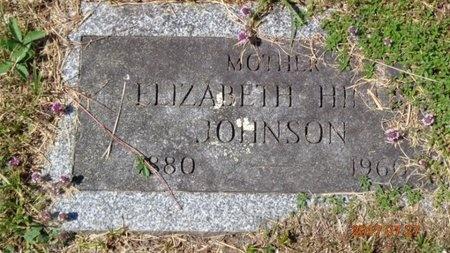 JOHNSON, ELIZABETH - Marquette County, Michigan | ELIZABETH JOHNSON - Michigan Gravestone Photos