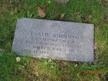 JOHNSON, EVALD - Marquette County, Michigan | EVALD JOHNSON - Michigan Gravestone Photos