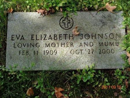 JOHNSON, EVA ELIZABETH - Marquette County, Michigan | EVA ELIZABETH JOHNSON - Michigan Gravestone Photos
