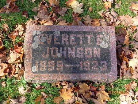 JOHNSON, EVERETT E. - Marquette County, Michigan   EVERETT E. JOHNSON - Michigan Gravestone Photos