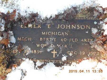 JOHNSON, ELMER E. - Marquette County, Michigan | ELMER E. JOHNSON - Michigan Gravestone Photos