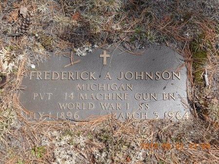 JOHNSON, FREDERICK A. - Marquette County, Michigan | FREDERICK A. JOHNSON - Michigan Gravestone Photos