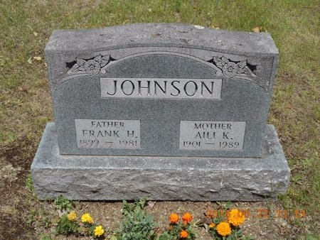 JOHNSON, AILI K. - Marquette County, Michigan | AILI K. JOHNSON - Michigan Gravestone Photos