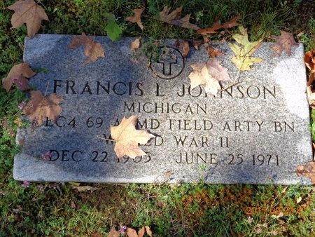 JOHNSON, FRANCIS L. - Marquette County, Michigan | FRANCIS L. JOHNSON - Michigan Gravestone Photos