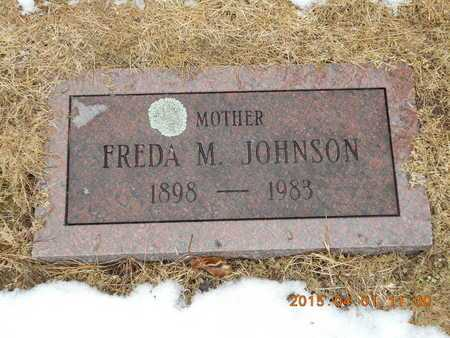 JOHNSON, FREDA M. - Marquette County, Michigan | FREDA M. JOHNSON - Michigan Gravestone Photos