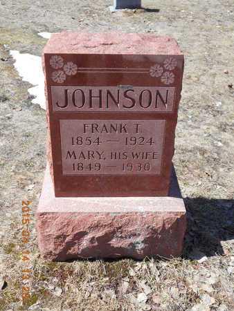 JOHNSON, FRANK T. - Marquette County, Michigan | FRANK T. JOHNSON - Michigan Gravestone Photos