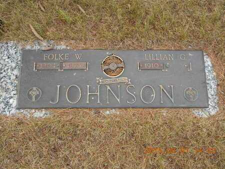 JOHNSON, FOLKE W. - Marquette County, Michigan | FOLKE W. JOHNSON - Michigan Gravestone Photos