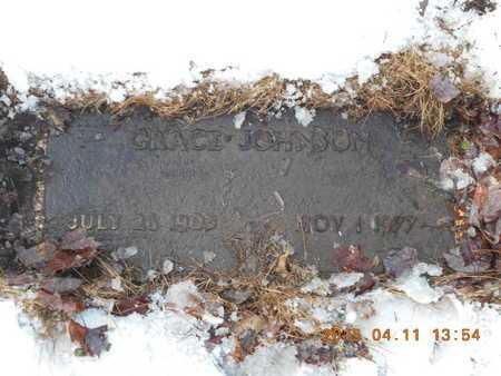 JOHNSON, GRACE - Marquette County, Michigan | GRACE JOHNSON - Michigan Gravestone Photos