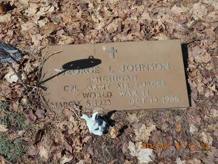 JOHNSON, GEORGE L. - Marquette County, Michigan | GEORGE L. JOHNSON - Michigan Gravestone Photos