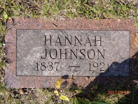 JOHNSON, HANNAH - Marquette County, Michigan   HANNAH JOHNSON - Michigan Gravestone Photos