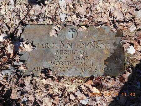 JOHNSON, HAROLD N. - Marquette County, Michigan | HAROLD N. JOHNSON - Michigan Gravestone Photos