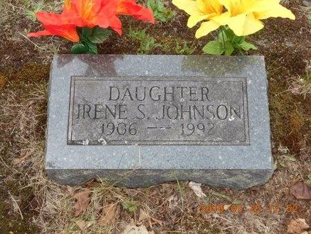 JOHNSON, IRENE S. - Marquette County, Michigan | IRENE S. JOHNSON - Michigan Gravestone Photos