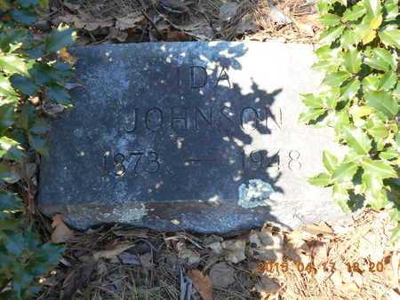 JOHNSON, IDA - Marquette County, Michigan | IDA JOHNSON - Michigan Gravestone Photos