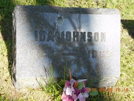 JOHNSON, IDA - Marquette County, Michigan   IDA JOHNSON - Michigan Gravestone Photos