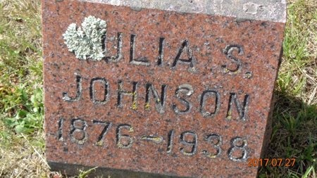JOHNSON, JULIA S. - Marquette County, Michigan | JULIA S. JOHNSON - Michigan Gravestone Photos