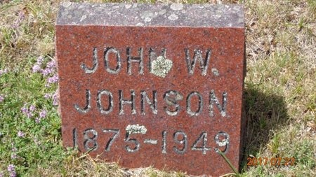 JOHNSON, JOHN W. - Marquette County, Michigan | JOHN W. JOHNSON - Michigan Gravestone Photos