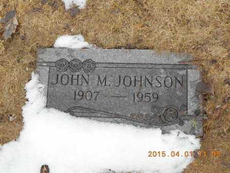JOHNSON, JOHN M. - Marquette County, Michigan   JOHN M. JOHNSON - Michigan Gravestone Photos