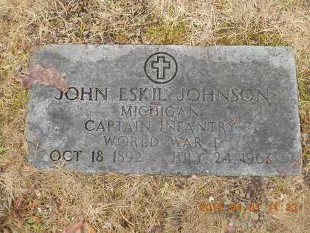 JOHNSON, JOHN ESKIL - Marquette County, Michigan | JOHN ESKIL JOHNSON - Michigan Gravestone Photos