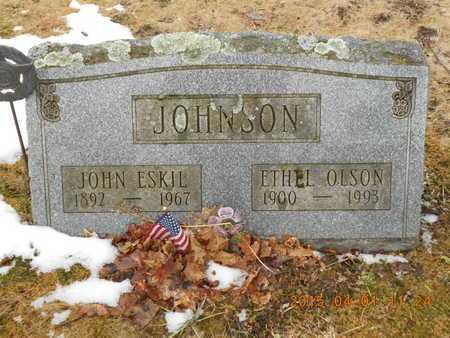 JOHNSON, JOHN ESKIL - Marquette County, Michigan | JOHN ESKIL JOHNSON - Michigan Gravestone Photos