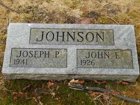 JOHNSON, JOHN E. - Marquette County, Michigan | JOHN E. JOHNSON - Michigan Gravestone Photos
