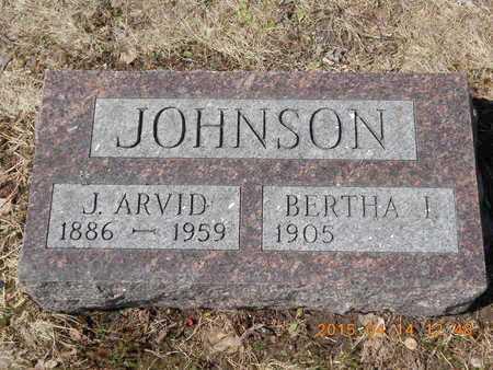 JOHNSON, J. ARVID - Marquette County, Michigan | J. ARVID JOHNSON - Michigan Gravestone Photos