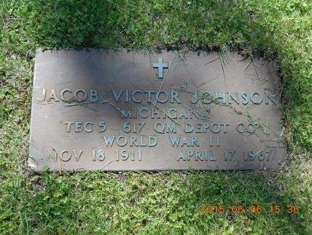 JOHNSON, JACOB VICTOR - Marquette County, Michigan | JACOB VICTOR JOHNSON - Michigan Gravestone Photos