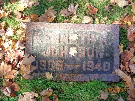 JOHNSON, KENNETH K. - Marquette County, Michigan | KENNETH K. JOHNSON - Michigan Gravestone Photos