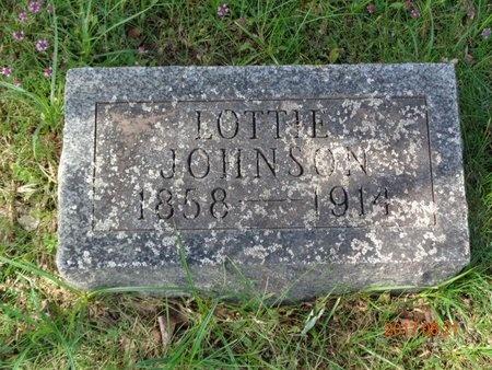 JOHNSON, LOTTIE - Marquette County, Michigan | LOTTIE JOHNSON - Michigan Gravestone Photos