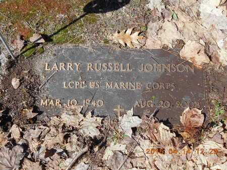 JOHNSON, LARRY RUSSELL - Marquette County, Michigan | LARRY RUSSELL JOHNSON - Michigan Gravestone Photos