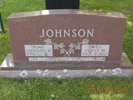 JOHNSON, VIOLET M. - Marquette County, Michigan | VIOLET M. JOHNSON - Michigan Gravestone Photos