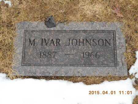 JOHNSON, M. IVAR - Marquette County, Michigan | M. IVAR JOHNSON - Michigan Gravestone Photos