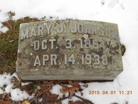 JOHNSON, MARY J. - Marquette County, Michigan   MARY J. JOHNSON - Michigan Gravestone Photos