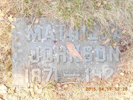 JOHNSON, MATHILDA - Marquette County, Michigan | MATHILDA JOHNSON - Michigan Gravestone Photos