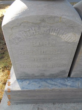 JOHNSON, MARTHA - Marquette County, Michigan | MARTHA JOHNSON - Michigan Gravestone Photos