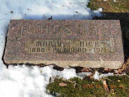 JOHNSON, NICK - Marquette County, Michigan | NICK JOHNSON - Michigan Gravestone Photos